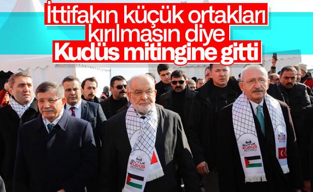 Büyük Kudüs Mitingi, parti liderini bir araya getirdi