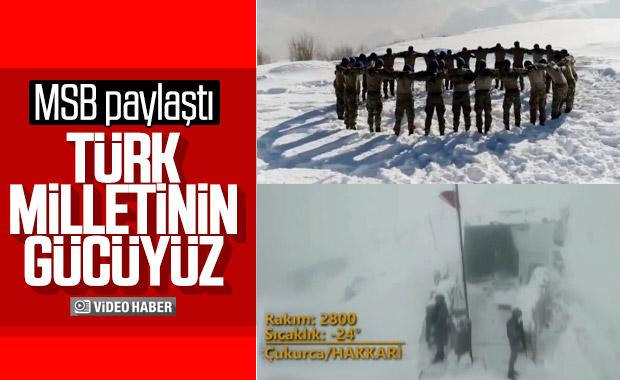 MSB'den Mehmetçik için video: Türk milletinin gücüyüz