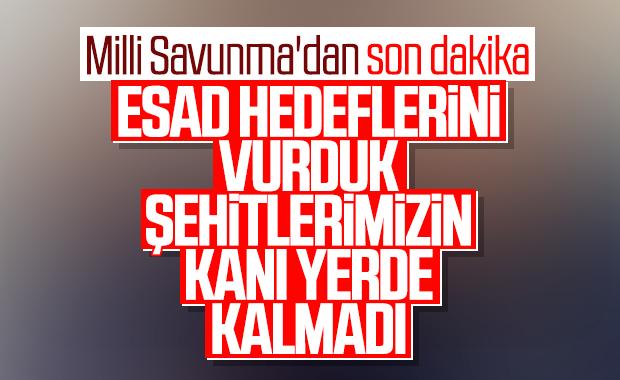 MSB: Rejim hedefleri vuruldu
