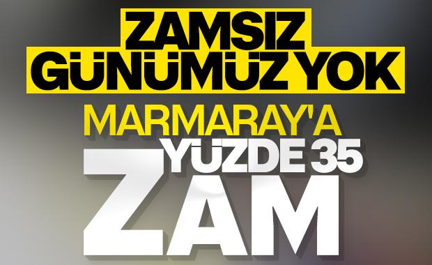 Marmaray'a zam geldi