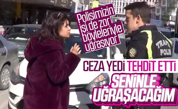Balıkesir'de ceza yazan polisi tehdit eden sürücü