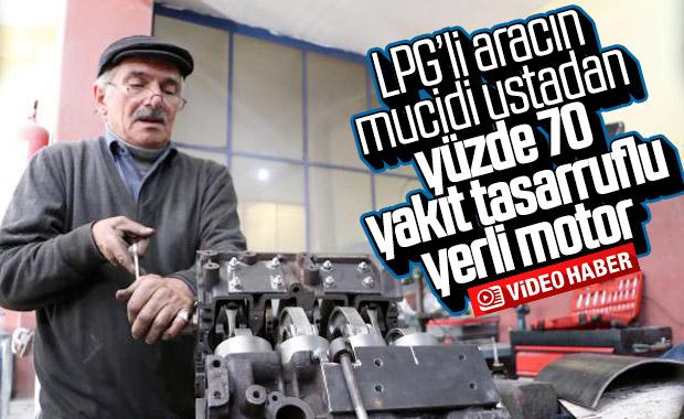 LPG'li aracın mucidinden, yüzde 70 yakıt tasarruflu motor