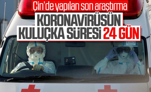 Koronavirüsün kuluçka süresi 24 güne çıktı