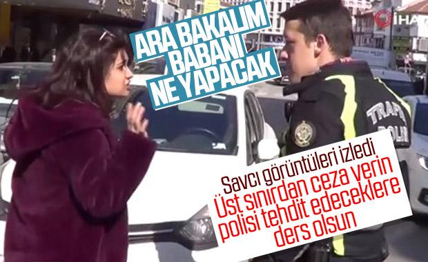 Polisi tehdit eden sürücü hakkında soruşturma başlatıldı