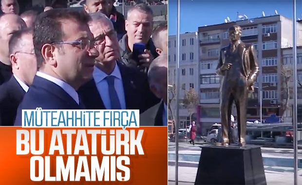 İmamoğlu, Atatürk heykeli yüzünden müteahhite fırça attı