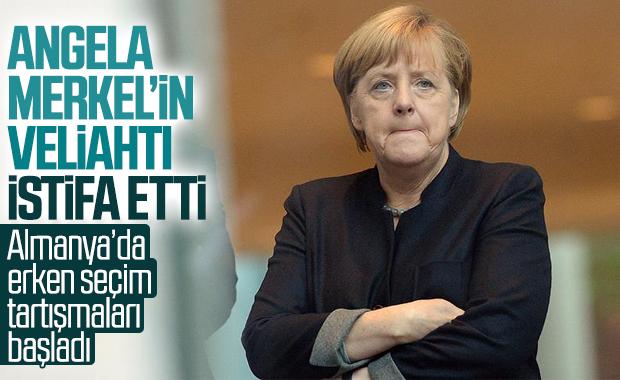 Merkel'in partisinin genel başkanı istifa etti