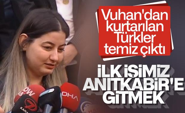 Vuhan'dan getirilen Türkler taburcu edildi