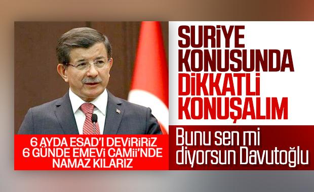 Davutoğlu Suriye gündemini değerlendirdi