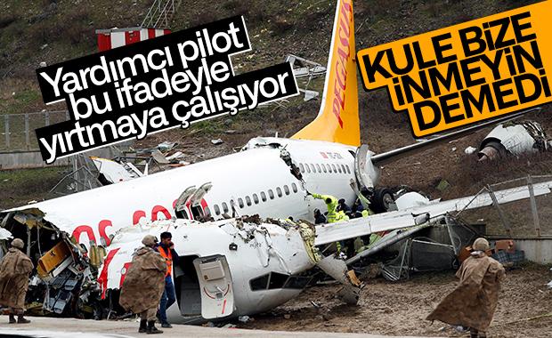Uçak kazasında bulunan yardımcı pilot ifade verdi