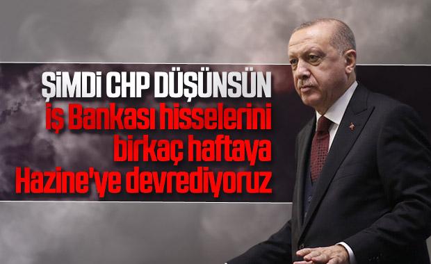 CHP'nin İş Bankası hisseleri Erdoğan'a soruldu