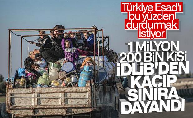 İdllib'den kaçanların sayısı 1 milyonu aştı