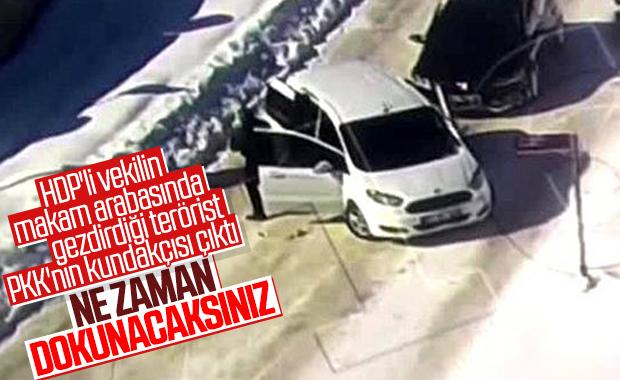 HDP'li vekilin aracından çıkan teröristin sicili kabarık