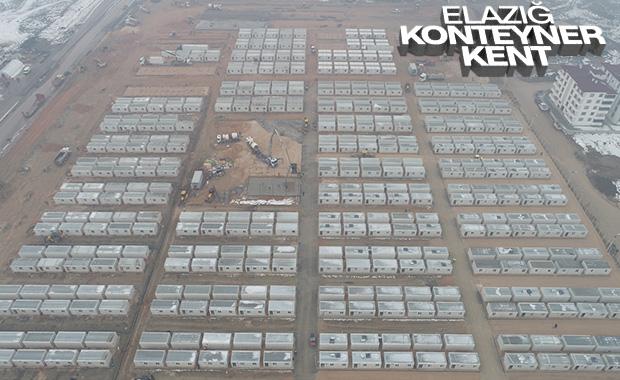 Elazığ'da depremzedeler için konteyner kent
