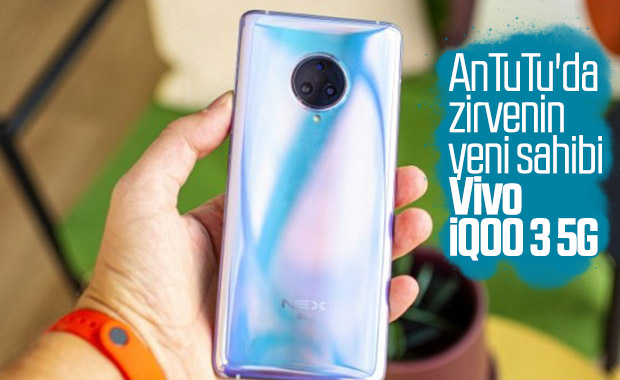 Vivo iQOO 3 5G, AnTuTu'dan rekor puan alarak zirveye yerleşti