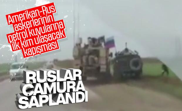 ABD zırhlı aracı, Ruslara ait zırhlı aracın önünü kesti
