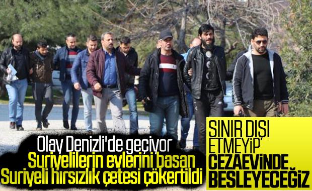 Denizli'de Suriyelilerin hırsızlık çetesi çökertildi