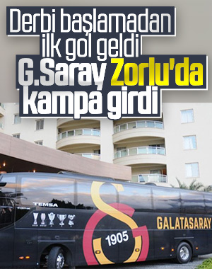 Galatasaray kafilesi Zorlu Center'da kampa girdi