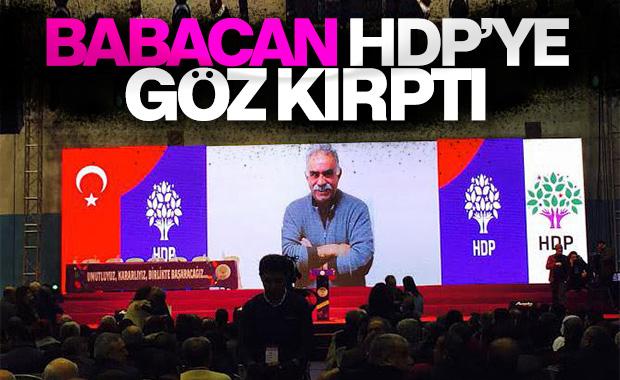 Ali Babacan'dan HDP'ye mesaj