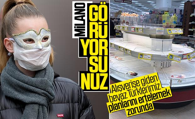 İtalya'da koronavirüs korkusu marketleri boşalttı