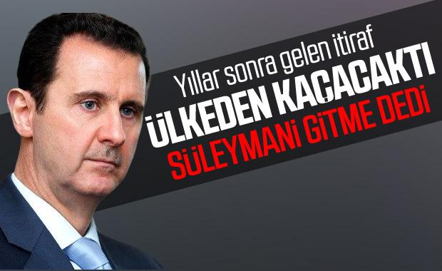 İranlı general: Esad'ın istifasına Süleymani engel oldu