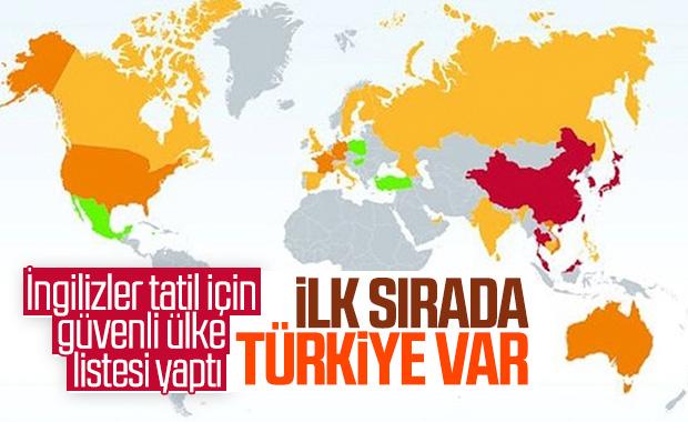 İngiliz basını, güvenli tatil için Türkiye'yi önerdi
