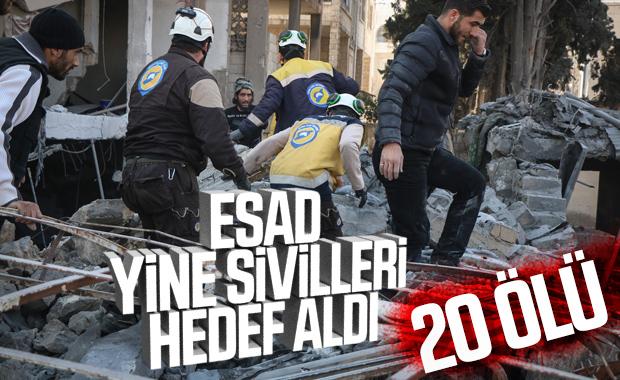 Esad sivilleri vurdu: 20 ölü