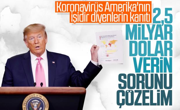 Trump, koronavirüse karşı 2,5 milyar dolar istedi