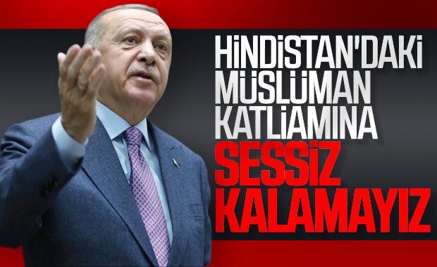Erdoğan: Hindistan'da katliam cirit atıyor