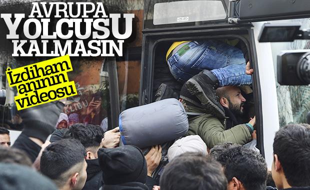 Mülteciler akın akın sınıra doğru gidiyor