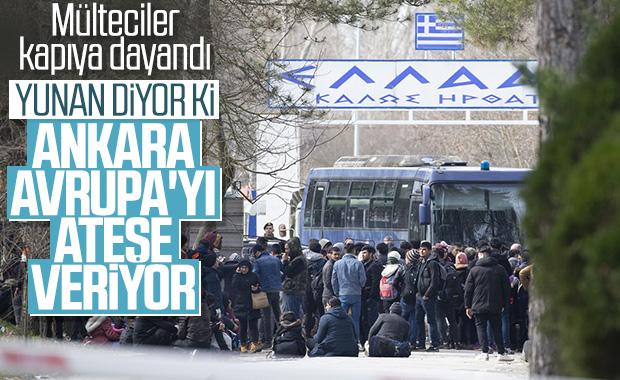 Mülteciler Yunanistan sınırında