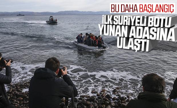 Mülteciler adalara ayak bastı