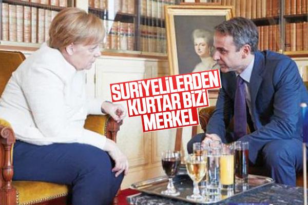 Miçotakis Merkel'den yardım istedi