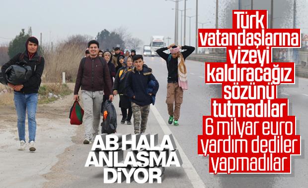 AB'den Türkiye'ye mülteci açıklaması