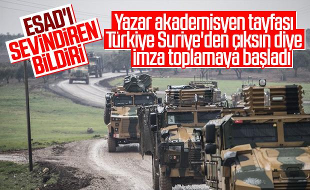 Suriye için imza topladılar: Askerler evlerine dönsün