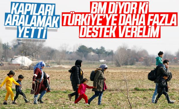 BM, Türkiye'ye mülteciler konusunda yardım çağrısı yaptı