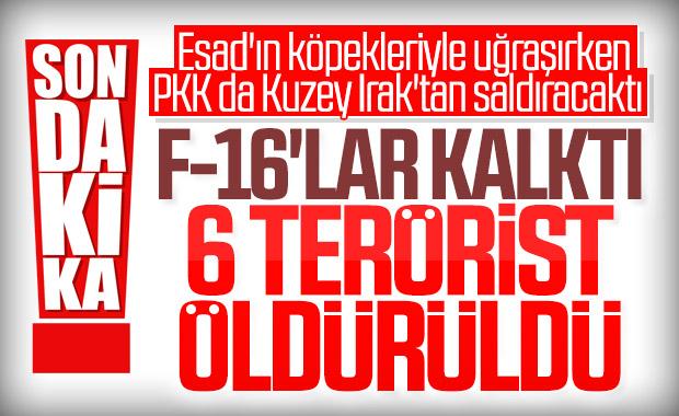 Metina ve Gara bölgelerinde 6 PKK'lı terörist öldürüldü