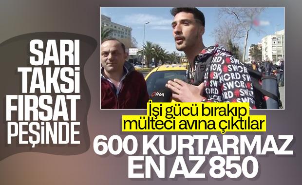 Mülteci ile taksicinin ücret pazarlığı