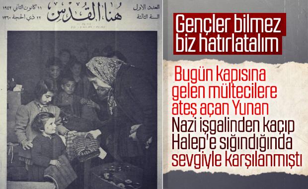 Yunanistan, savaş sırasında sığındığı ülkenin halkını öldürüyor