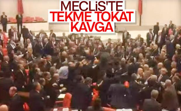 Meclis'te yumruklar konuştu