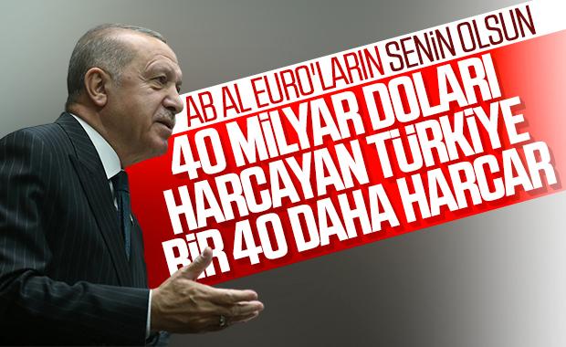 Cumhurbaşkanı Erdoğan'dan AB'ye mesaj