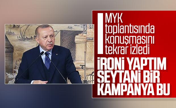 Cumhurbaşkanı Erdoğan, tartışılan konuşmasını yorumladı