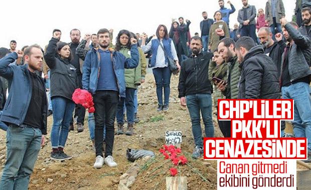 CHP terörist cenazesinde