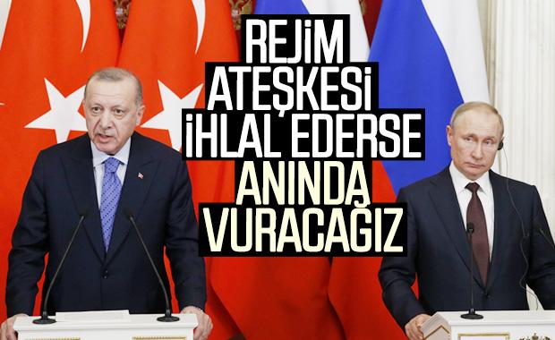 Ateşkes ihlal edilirse Türkiye rejimi vuracak