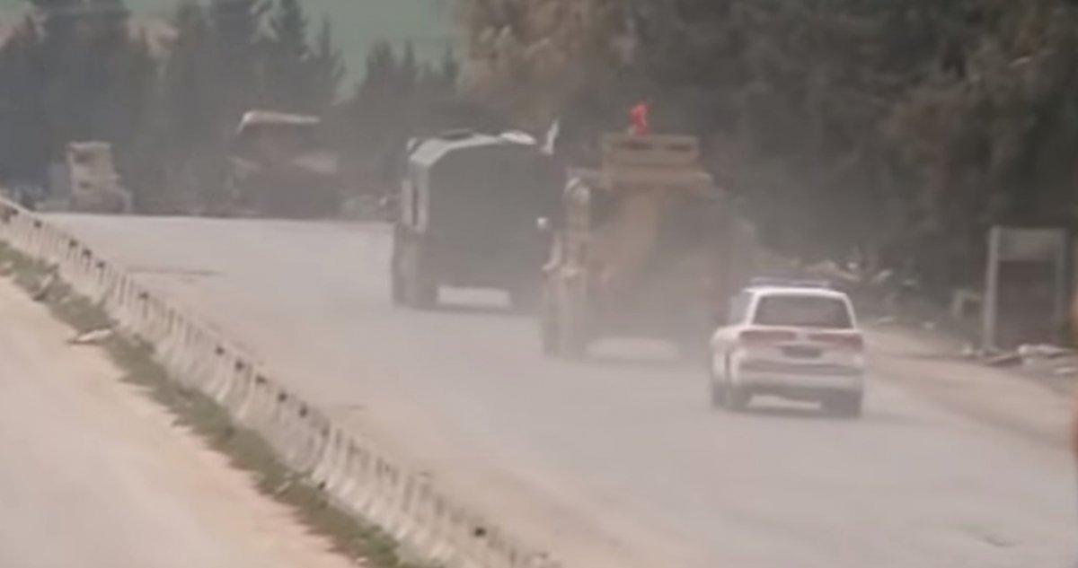 M4 karayolunda Rus-Türk askeri araçları görüldü