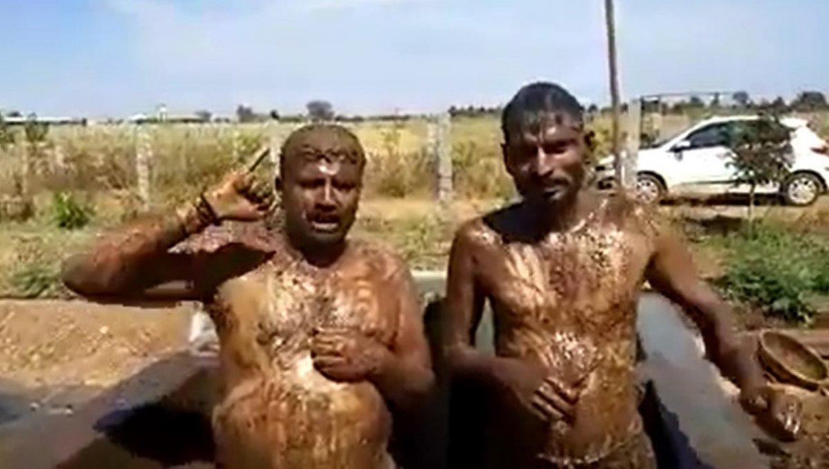 Hindistan'da korona korkusu: İnek dışkısında duş