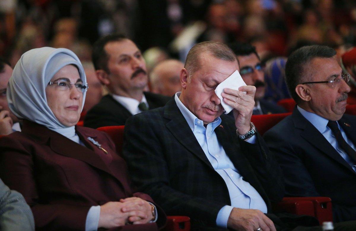 Şehit annelerinin konuşması Erdoğan'ı duygulandırdı