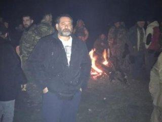 Irkçı Yunan vekil, Türkiye sınırında