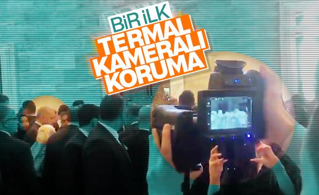 Cumhurbaşkanı Erdoğan'a termal kameralı koruma