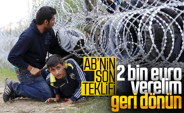 AB: Mültecilere 2 bin euro verelim, gitsinler