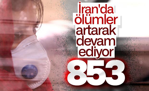 İran'da koronavirüs nedeniyle ölenlerin sayısı 853 oldu